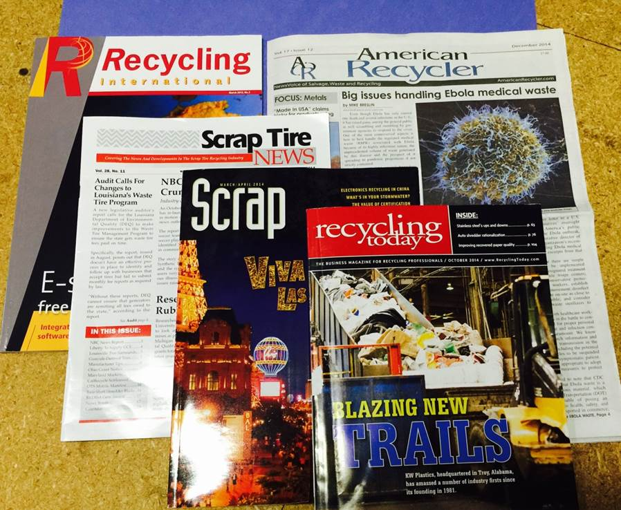 industrial shredding & recycling press coverage